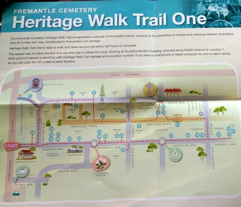 Fremantle Cemetery Heritage Walk Trail One