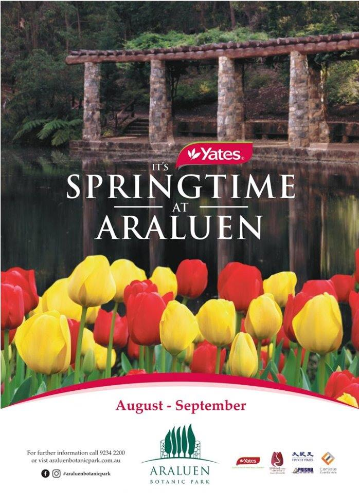 It's Yates Springtime at Araluen